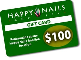 Happy Nails Gift Card